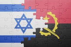 förbrylla med nationsflaggan av Angola och Israel Arkivfoton