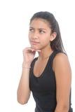förbryllad flicka Fotografering för Bildbyråer