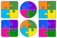 förbryllar lätta stycken eps8 för ändringsfärger resizing av vektorn Arkivfoton