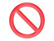 förbud Royaltyfri Foto
