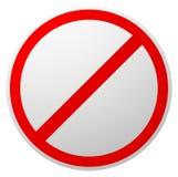 Förbud begränsning som förbjudas, inget enty tecken RÖTT CIRKLA stock illustrationer