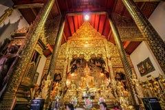 Förbud Den Temple (Wat Ban Den) Arkivfoto