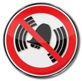 Förbud för att ringa och klocka Arkivbild