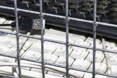 Förbud och begränsningar på internet royaltyfria foton