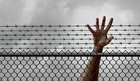 Förbud på invandring stock illustrationer