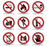9 förbud- & varningstecken - Iconset stock illustrationer