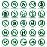25 förbud- & varningstecken - Iconset royaltyfri illustrationer