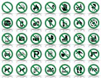 35 förbud- & varningstecken - Iconset royaltyfri illustrationer
