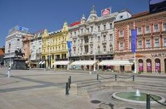 FörbudJelacic fyrkant, Zagreb Royaltyfri Fotografi