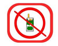 förbudrökning stock illustrationer