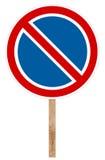 Förbuds- trafiktecken - ingen parkering Arkivfoto