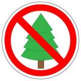 Förbudtecken av julgrangran, vektor royaltyfri illustrationer