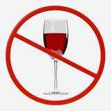 Förbudtecken med alkohol Fotografering för Bildbyråer
