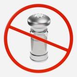 Förbudtecken med salt Royaltyfri Foto