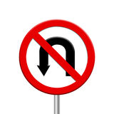 förbudvägmärkevänd Fotografering för Bildbyråer