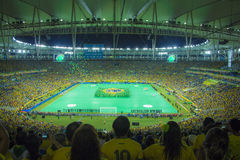 Förbund kuper 2013 - Brasilien x Spanien - Maracanã Arkivfoton