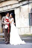 förbunde lyckaromantiker royaltyfri fotografi