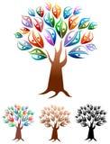 förbunde treen Arkivbild
