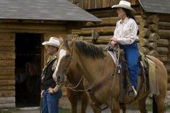 förbunden cowboyen Arkivfoto