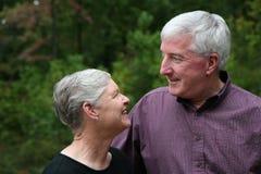 förbunden den lyckliga pensionären Arkivbild