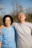 förbunden den lyckliga pensionären Royaltyfria Bilder
