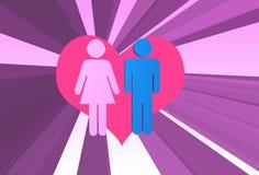 förbunden förälskelse vektor illustrationer