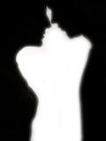 förbunden silhouetten Fotografering för Bildbyråer