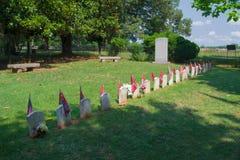 Förbundsmedlemkyrkogård - Appomattox County, Virginia Royaltyfria Bilder