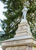 Förbundsmedlemkyrkogård i Fredericksburg VA Arkivbild
