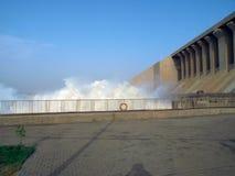 Fördämning av den Merowe vattenkraftstationen Arkivbild