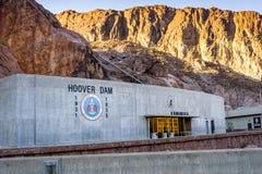 Fördämning för dammsugare för vattenkraftväxt namngiven, Nevada Arkivbilder