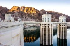 Fördämning för dammsugare för vattenkraftväxt namngiven, Nevada Royaltyfri Foto