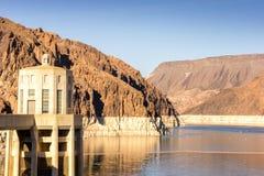 Fördämning för dammsugare för vattenkraftväxt namngiven, Nevada Royaltyfria Foton
