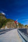 Fördämning på sjön Emosson nära Chamonix (Frankrike) och Finhaut (Schweiz) Royaltyfri Fotografi