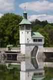 Fördämning på sjön i Augsburg Arkivbilder