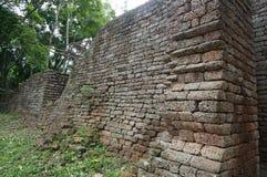 Fördärva av den forntida väggen, Thailand Royaltyfri Bild