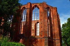 Fördärva av en gammal kloster i stralsund, Tyskland arkivfoto