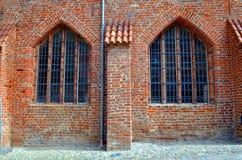 Fördärva av en gammal kloster i stralsund, Tyskland royaltyfri fotografi