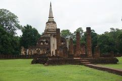 Fördärva av stenBuddha, pagoden, pelaren, Thailand Arkivfoton