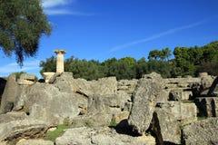 Fördärva av templet av Zeus Arkivbilder