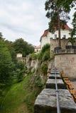 Fördärva av Valdstejn den gotiska slotten Fotografering för Bildbyråer