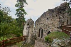 Fördärva av Valdstejn den gotiska slotten Arkivbilder