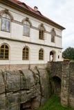 Fördärva av Valdstejn den gotiska slotten Arkivbild