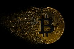 Fördärva bitcoin Arkivbild