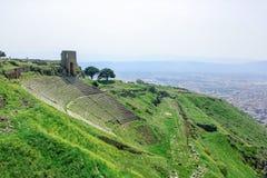 Fördärva den roman amfiteateramfiteatern i Pergamum Pergamon, T Royaltyfri Bild