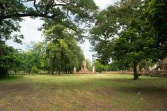 Fördärva i tempelkomplexet vilken Maha That i Ayutthaya Royaltyfri Bild