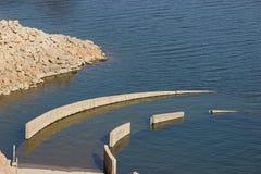 fördärvad bro Fotografering för Bildbyråer