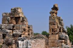 Fördärvar Afrodisias/Aphrodisias den forntida staden, Turkiet royaltyfri foto