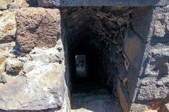 Fördärvar av århundradefästningen för th 12 av Hospitallersen - Belvoiren - Jordan Star - i Jordan Star National Park nära den Af Fotografering för Bildbyråer