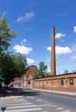 Fördärvar av övergiven fabrik Royaltyfri Fotografi